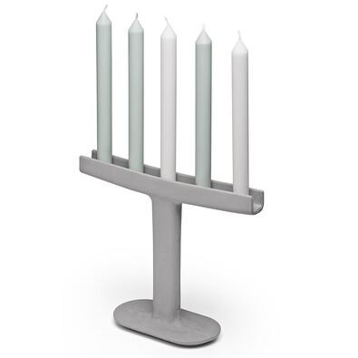 Svietnik Candle Stick 26 cm, sivá