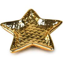 Csillag kerámia dekortányér, 13 cm