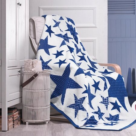 Matějovský márkájú Star Blue takaró, 160 x 220 cm