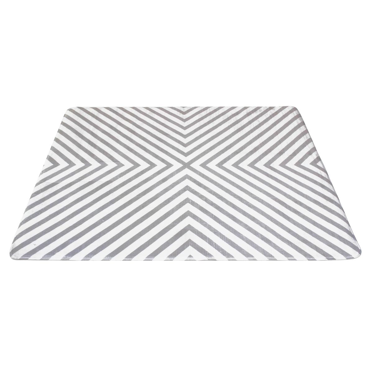Domarex Fusion memóriahabos szőnyeg,fehér-szürke, 120 x 160 cm