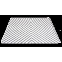 Covoraș din spumă cu memorie Domarex Fusion, alb-gri, 120 x 160 cm