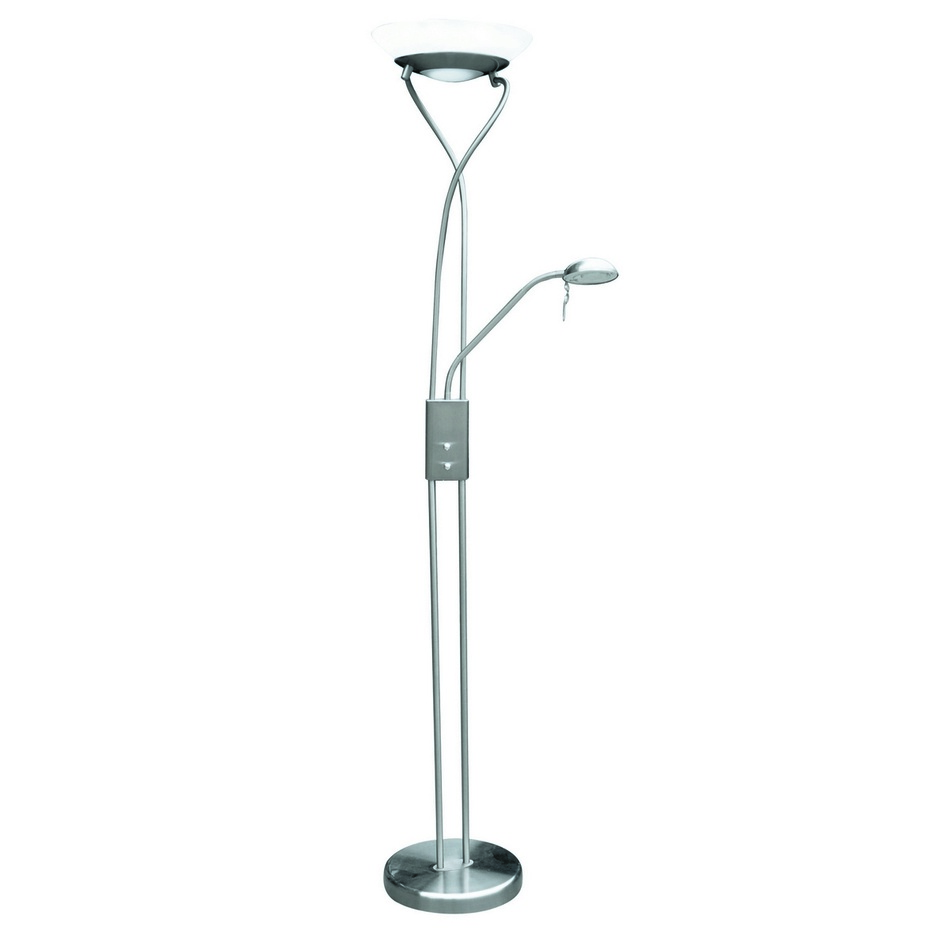Rabalux 4077 Gamma stojací lampa, stříbrná