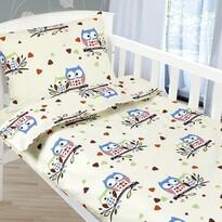 Bellatex Agáta Baglyok gyermek pamut ágynemű, 90 x 135 cm, 45 x 60 cm
