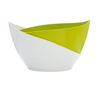 Samozavlažovací květináč Doppio, sv. zelená + bílá