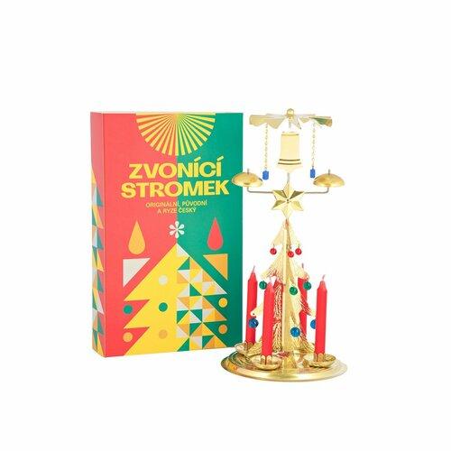 Tradičné anjelské zvonenie Stromček zlatá, 30 cm
