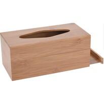 Bambusz papírzsebkendő tartó doboz Lina, 24,5 cm