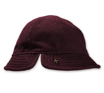 Dámský flaušový klobouk, vínová, 55 - 56