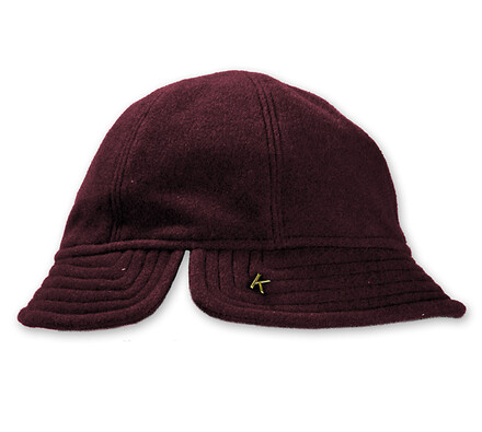 Dámský flaušový klobouk, vínová, 57 - 58