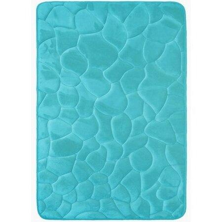 Kövek fürdőszobaszőnyeg memóriahabbal türkiz, 50 x 80 cm