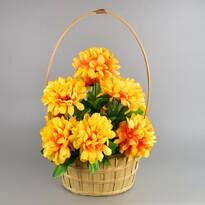 Koszyk zaduszny zdobiony Chryzantema 20 x 30 cm, żółty