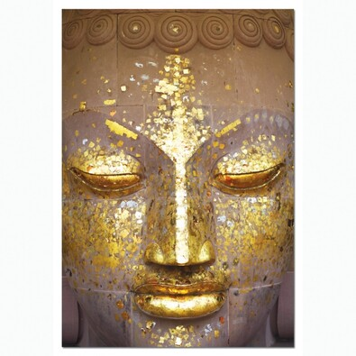 Puzzle Zlatá tvář Buddhy, 500 dílků, zlatá