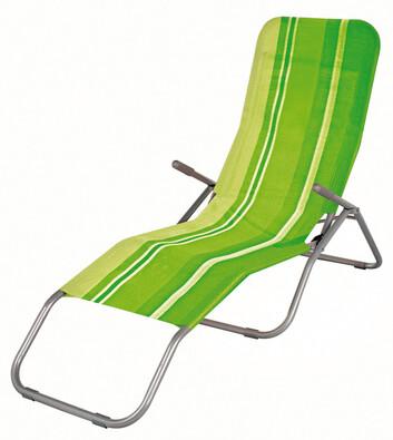 Plážové skádací lehátko zelená