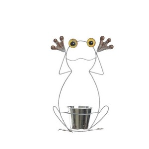 Zinkový květináč Žába