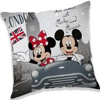 Párna Mickey and Minnie London, 40 x 40 cm