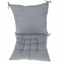 Prošívaný sedák Proužky modrá, 40 x 40 cm