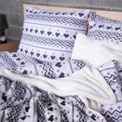 4Home beránková deka Nordic Love, 150 x 200 cm