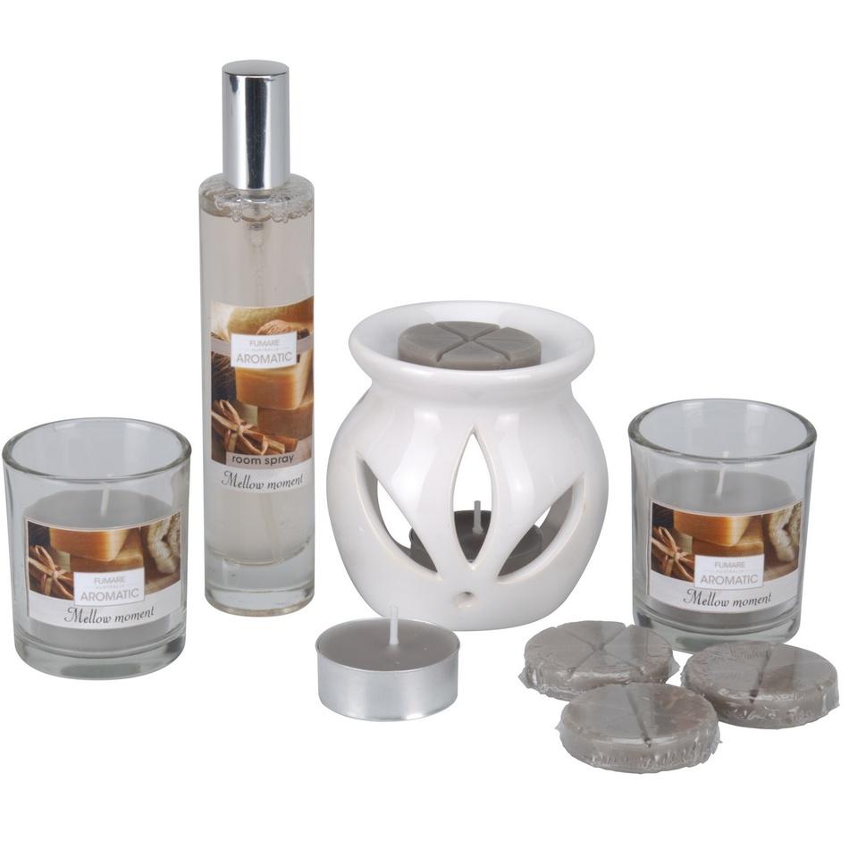Sada sviečok a aromalampy Aromatico Mellow moment, 10 ks
