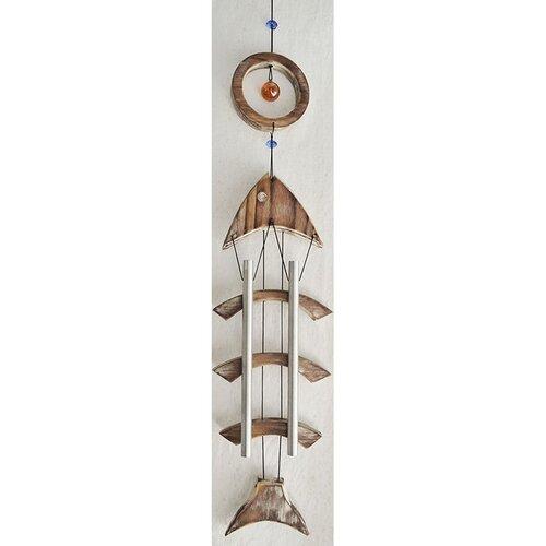 Dřevěná zvonkohra Ryba, 72,5 cm