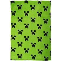 Minecraft takaró, zöld, 100 x 150 cm