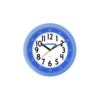 Nástěnné hodiny Clockodile modrá, pr. 25 cm