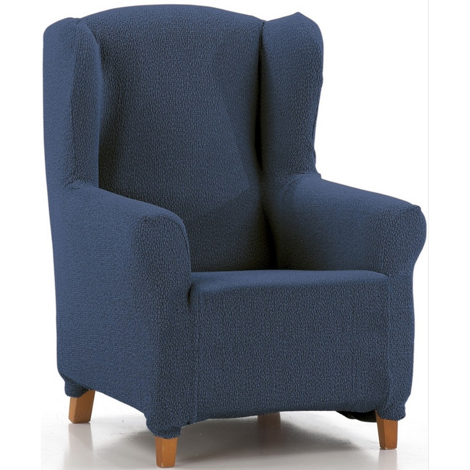 """Multielastyczny pokrowiec na fotel """"uszak"""" Petra niebieski, 70 - 110 cm"""