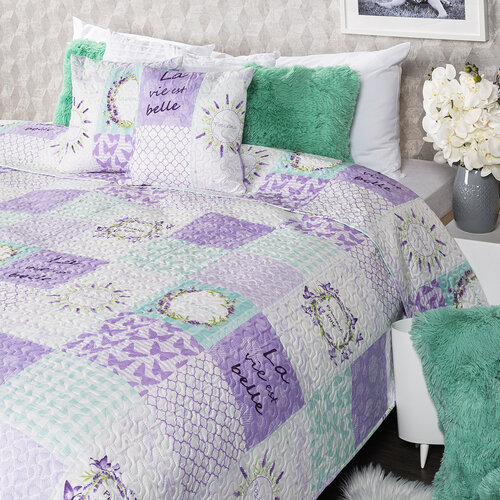 4Home Přehoz na postel Lavender, 220 x 240 cm, 2 ks 40 x 40 cm