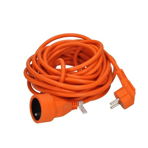 Solight PS16O predlžovací kábel - spojka, 1 zásuvka, oranžová, 10m
