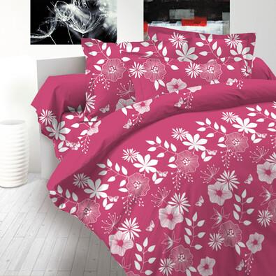 Bavlněné povlečení delux Coccona růžová, 140 x 220 cm, 70 x 90 cm