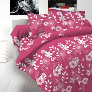 Bavlněné povlečení delux Coccona růžová, 240 x 220 cm, 2 ks 70 x 90 cm