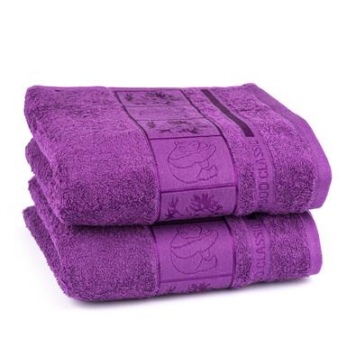 4Home ručník Bamboo fialová, 50 x 100 cm, 2 ks