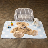 Detský koberec Ultra Soft Medvedík modrá, 100 x 15