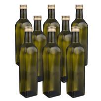 Orion Sada sklenených fliaš s viečkom Olej 0,25 l, 8 ks