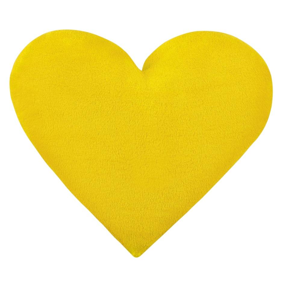 Bellatex Vankúšik Korall micro Srdce žltá, 42 x 48 cm