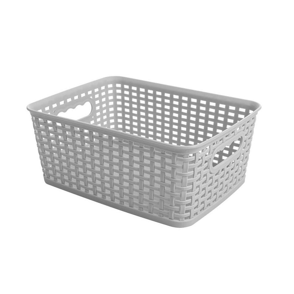 Obdĺžnikový košík RATTAN CLASSIC 4,5 l, sivá
