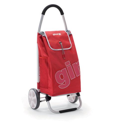 World Galax nákupná taška na kolieskach červená