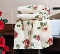 4Home osuška Růže, bílá, 70 x 140 cm, sada 2 ks