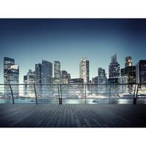 Fototapeta XXL Nocna panorama z drapaczami chmur 360 x 270 cm, 4 części
