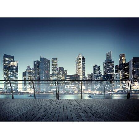 Fototapeta XXL Nočná panoráma mrakodrapov  360 x 270 cm, 4 diely