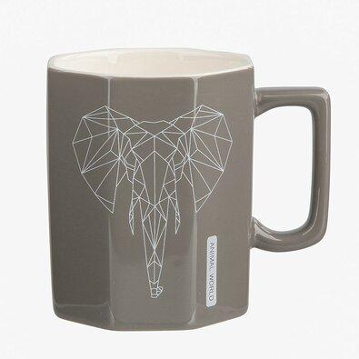 Altom Porcelánový hrnek Modern Elephant 320 ml, béžová