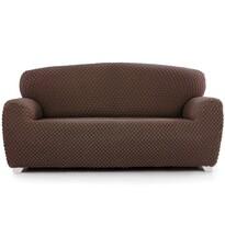 Multielastyczny pokrowiec na fotel Contra brązowy