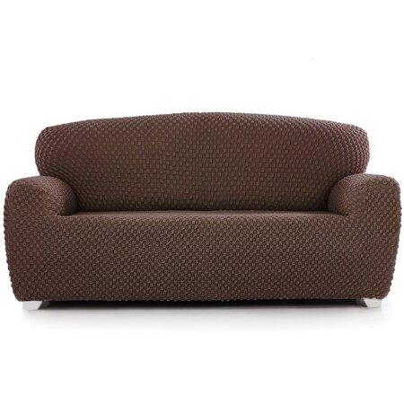 Husă multielastică Contra, pentru canapea, maro, 220 - 260 cm
