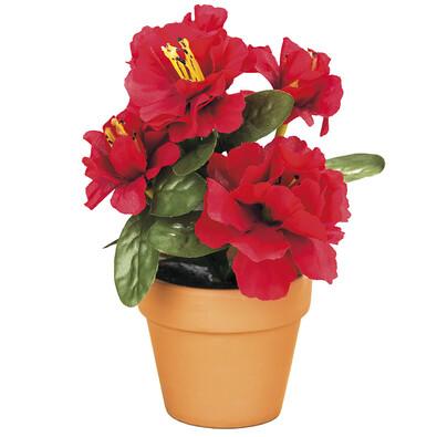 Umělá květina Azalka v květináči