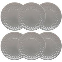 Florina Sada keramický dezertných tanierov Diamond 19,5 cm, 6 ks, sivá