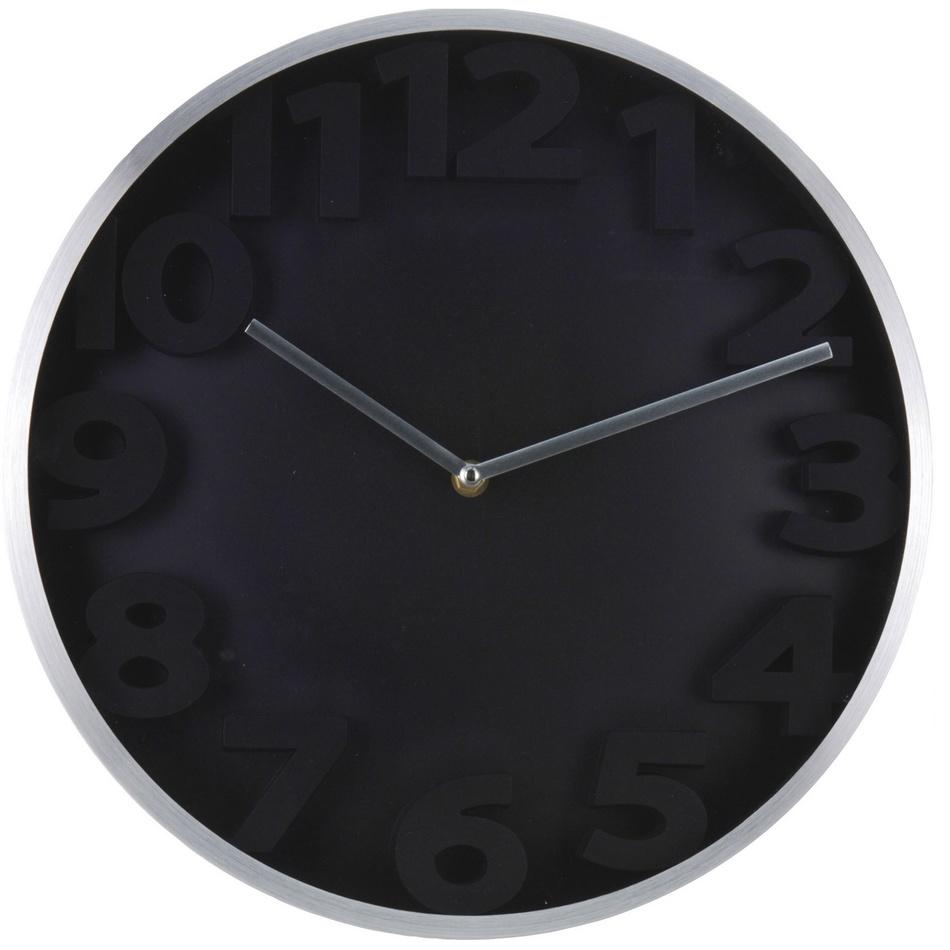 Nástenné hodiny Number, čierna