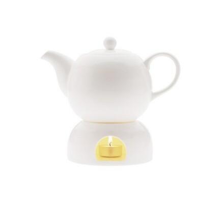 Maxwell&Williams White Basics porcelánový čajník s ohřívačem 1l