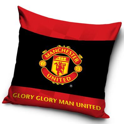 Polštářek Manchester United Black, 40 x 40 cm