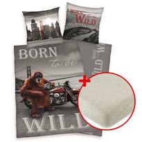 Výhodná sada bavlněné povlečení Born to be wild + prostěradlo