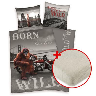 Výhodná sada bavlnené obliečky Born to be wild+ prestieradlo
