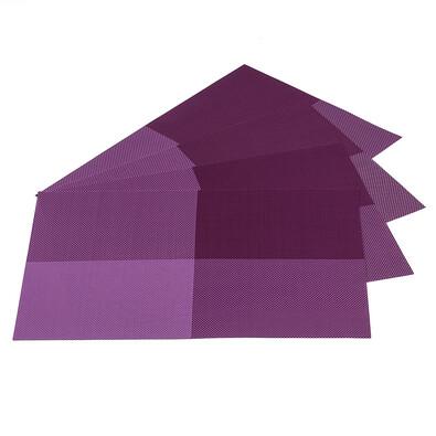 Prostírání DeLuxe tmavě fialová, 30 x 45 cm, sada 4 ks