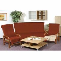 Narzuty na kanapę i fotele Kira terra, 150 x 200 cm, 2 szt. 65 x 150 cm